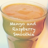 Mango and Raspberry Smoothie